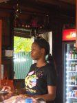 """Waitress in the """"Viv Richards Room"""", Antigua"""