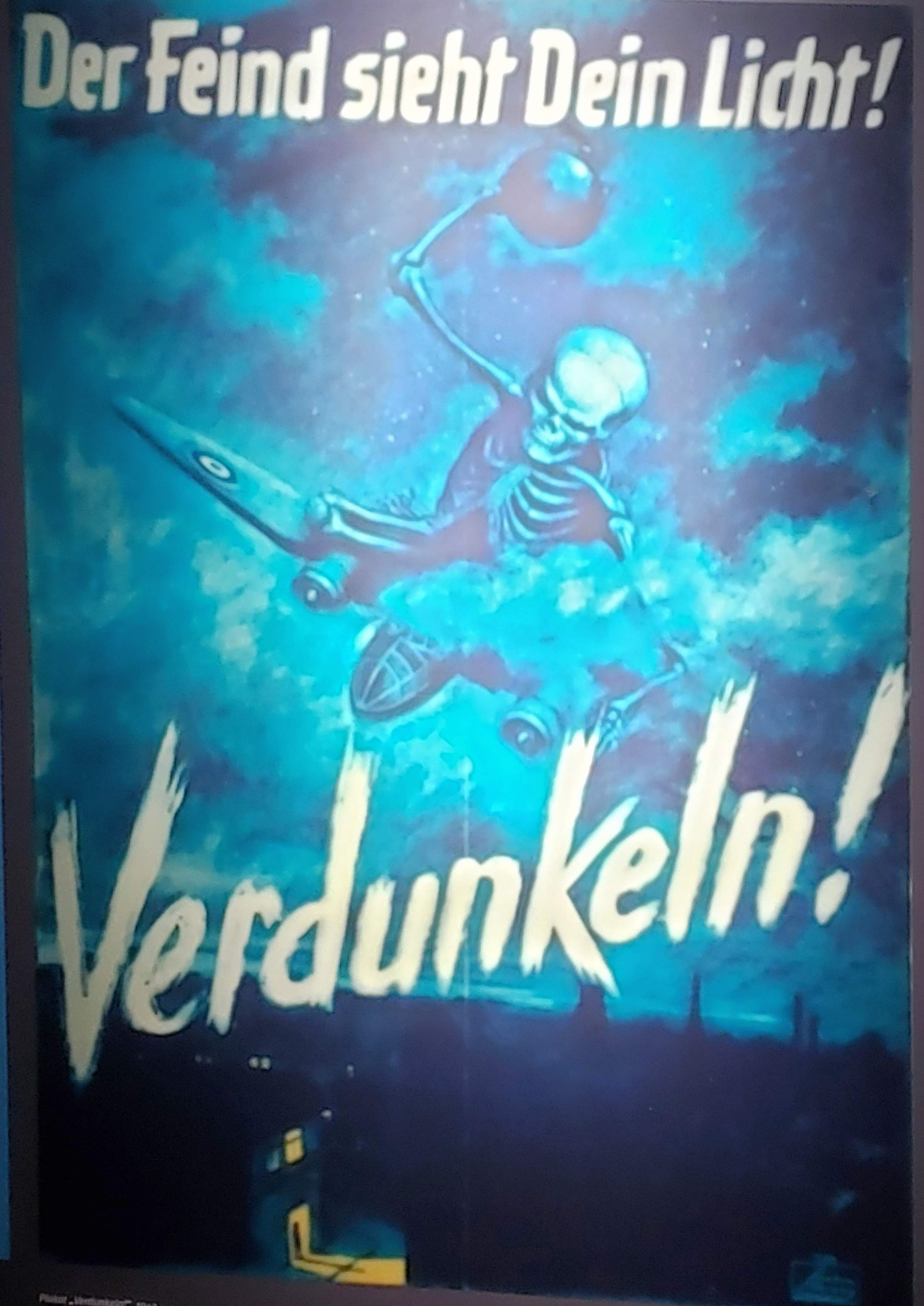 A wartime poster in the Nuremberg Art Bunker
