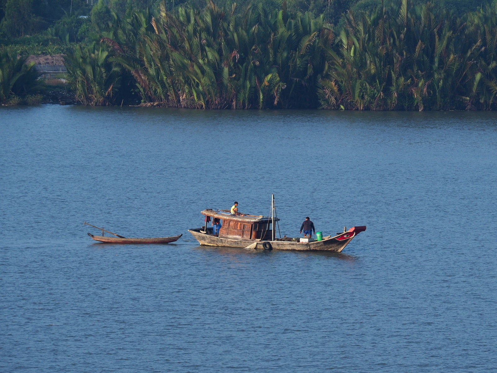 Fishing boat on Mekong