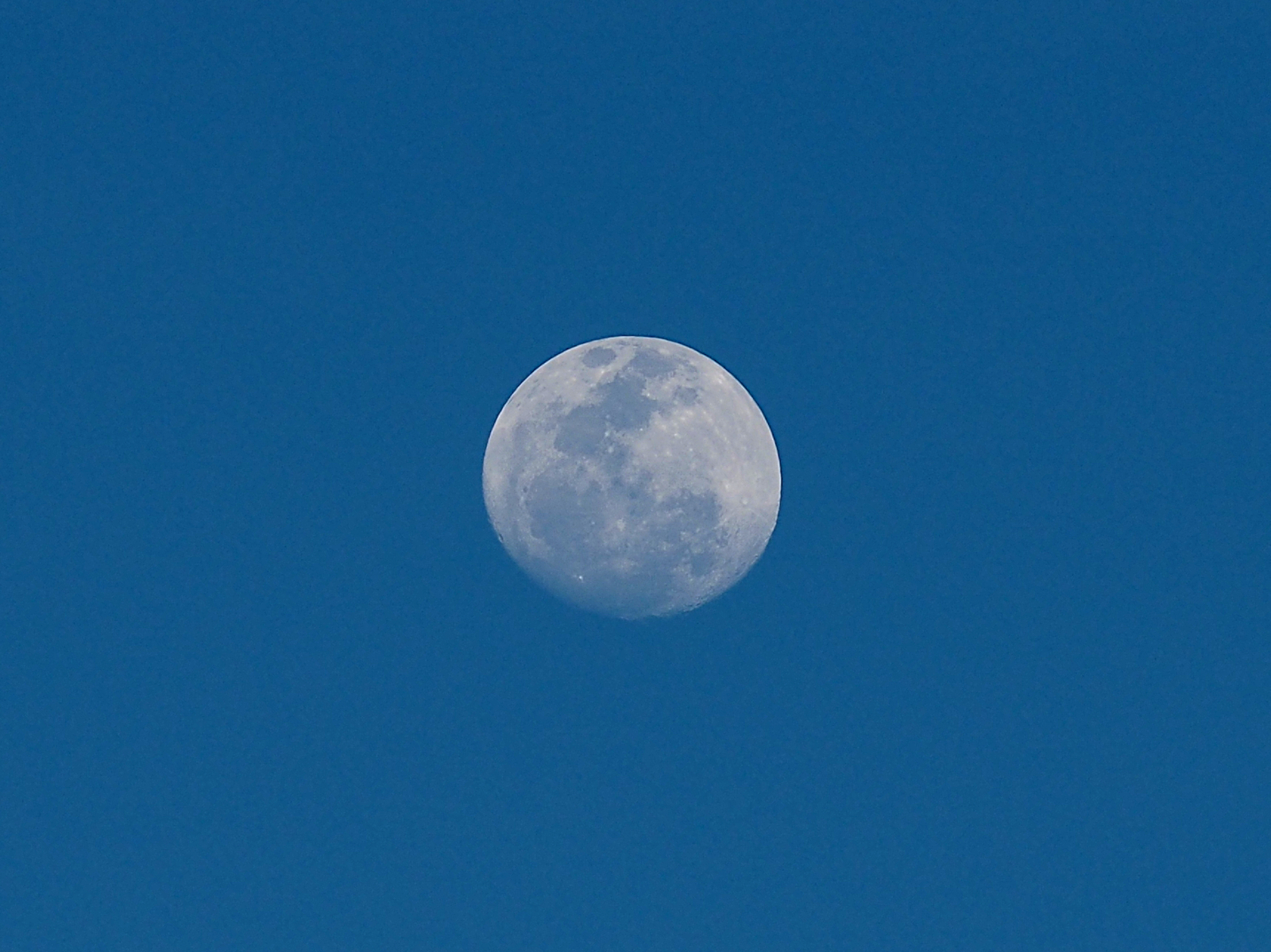 Picture of the moon during the day